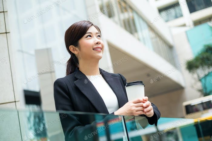 Businesswoman take a break at outdoor