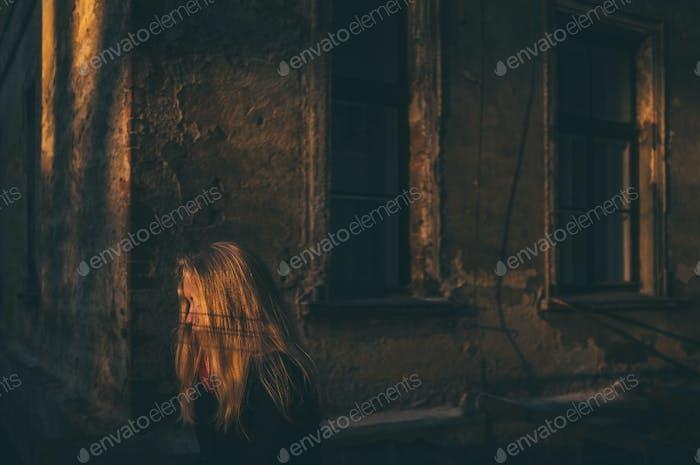 einsame Frau