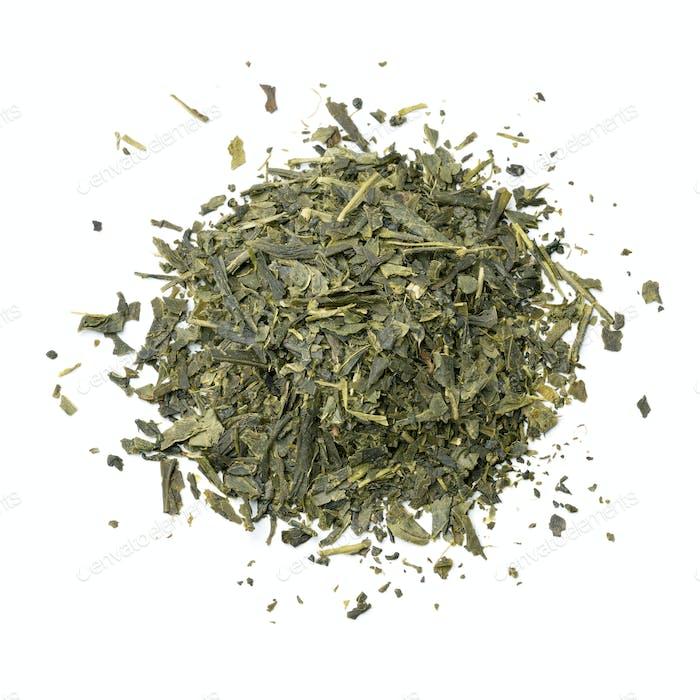 Heap of Japanese green tea
