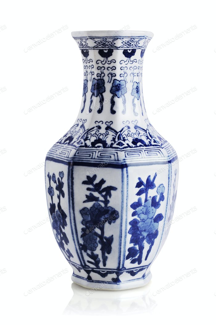 Chinese Floral Pattern Vase
