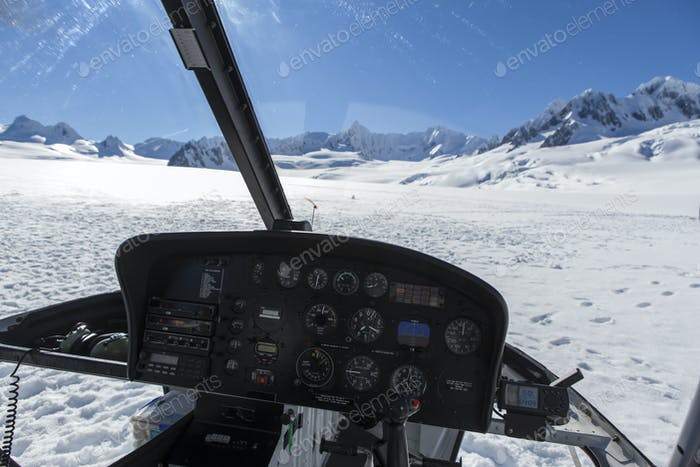 54522,Helicopter landing on Fox Glacier, New Zealand