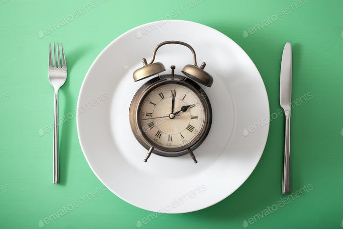 concept of intermittent fasting, ketogenic diet, weight loss. al