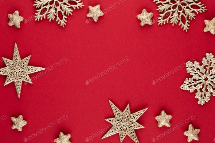Christmas Background with Shining decor.