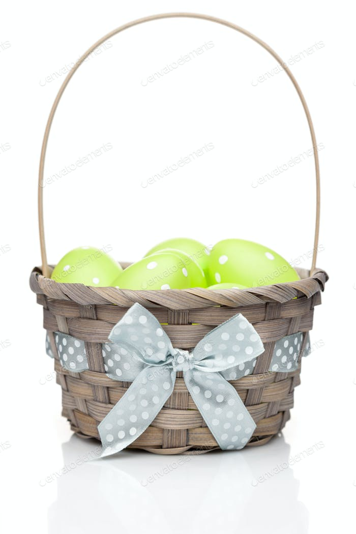 Easter holiday eggs on white background