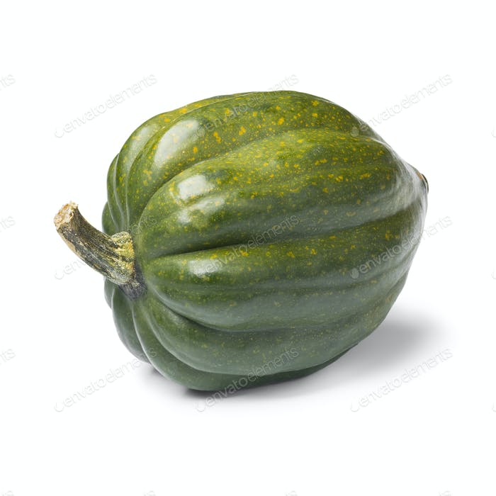 Fresh green acorn squash close up