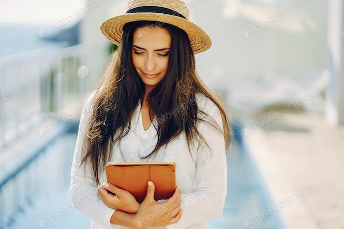girl in a resort