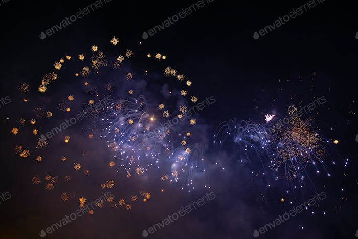Celebrating New Year with fireworks