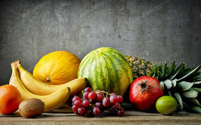 various fresh fruits