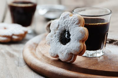 Italian italian cookie with jam