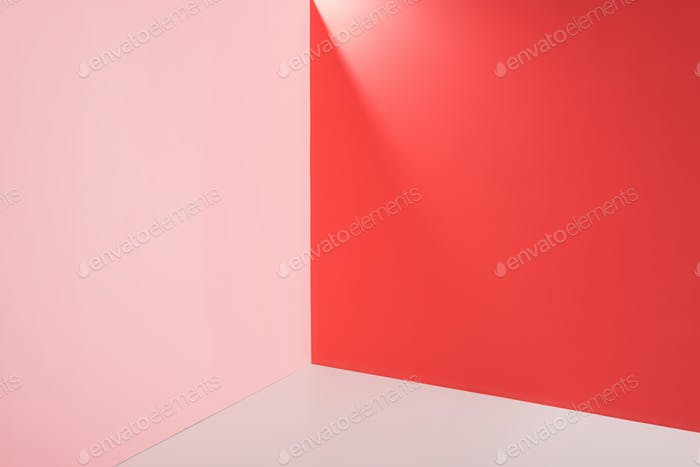 bright pink, red and white background