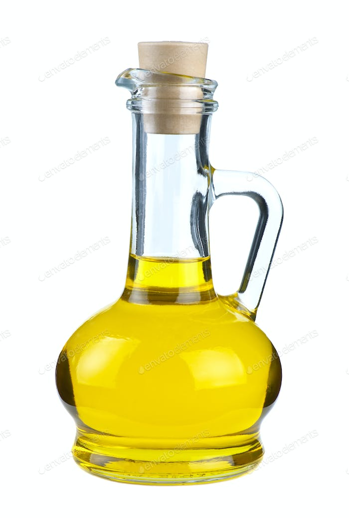 Small decanter with olive oil