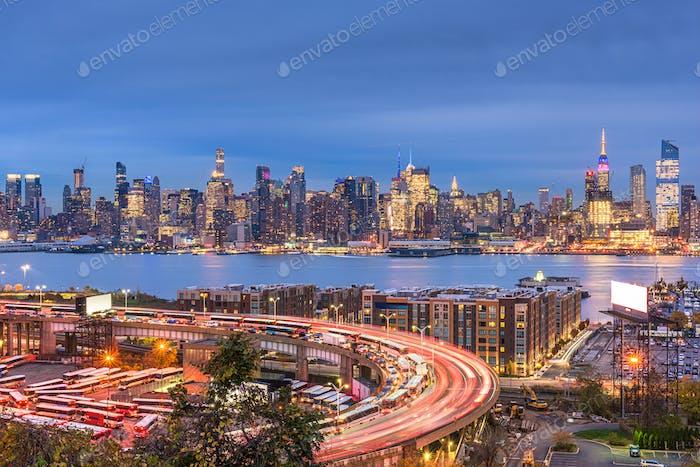 Skyline de la ciudad de Nueva York desde Nueva Jersey