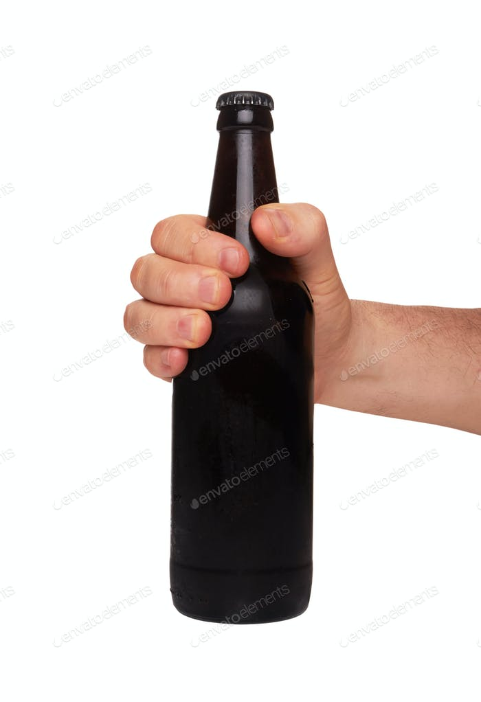 Bier auf Weiß