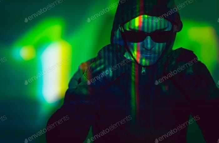 Undercover Hacker Concept