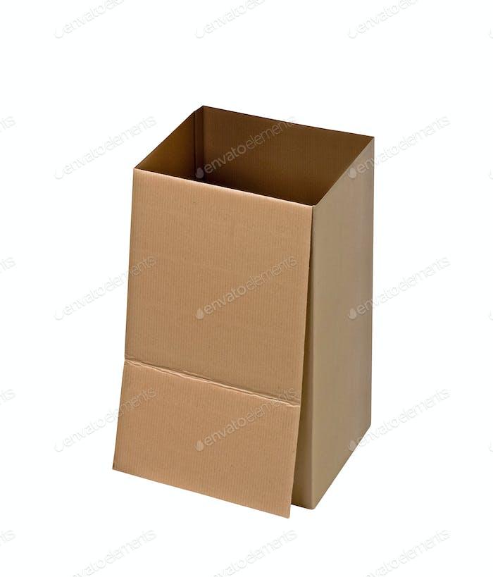 Cardboard Box on White