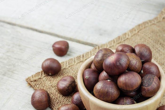Chestnut on a sack