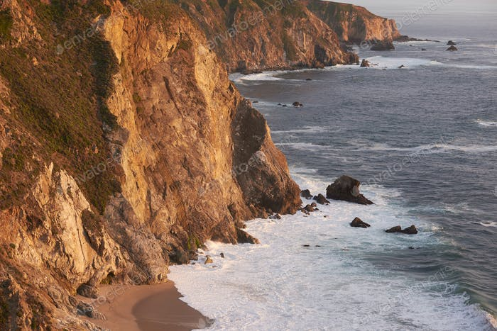 Pacific coast landscape in California
