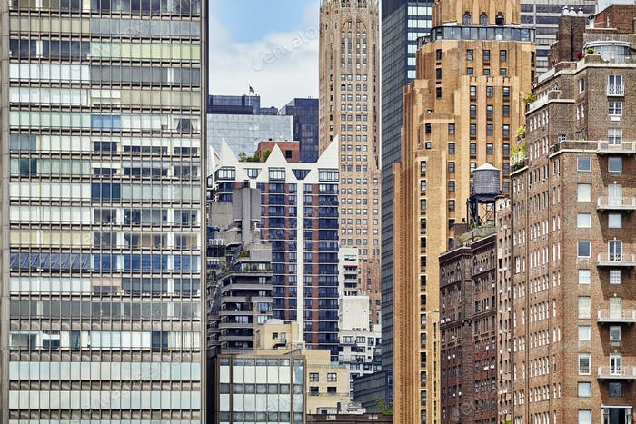 Picture of New York City buildings.