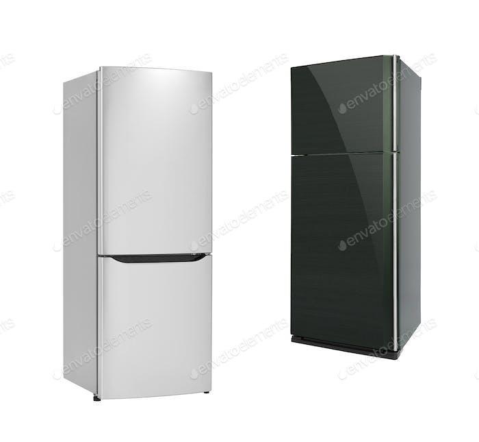 Refrigirators isolated on white background