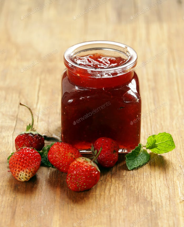 Homemade Organic Strawberry Jam.