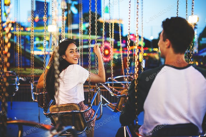 Amusement Park Funfair Festive Playful Happiness Concept