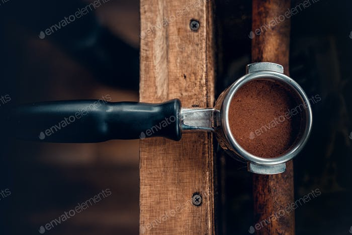 Close up image of coffee pot.