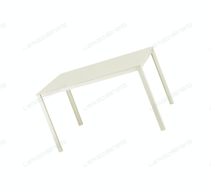 White table top isolated on white background
