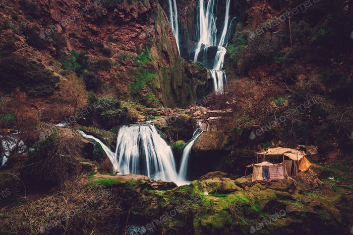 Berber village near Ouzoud waterfall in Morocco