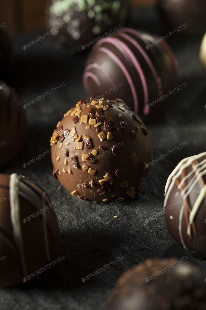 Fancy Dark Chocolate Truffles