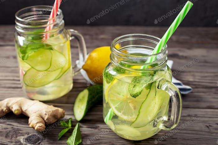 Lemon and cucumber drink