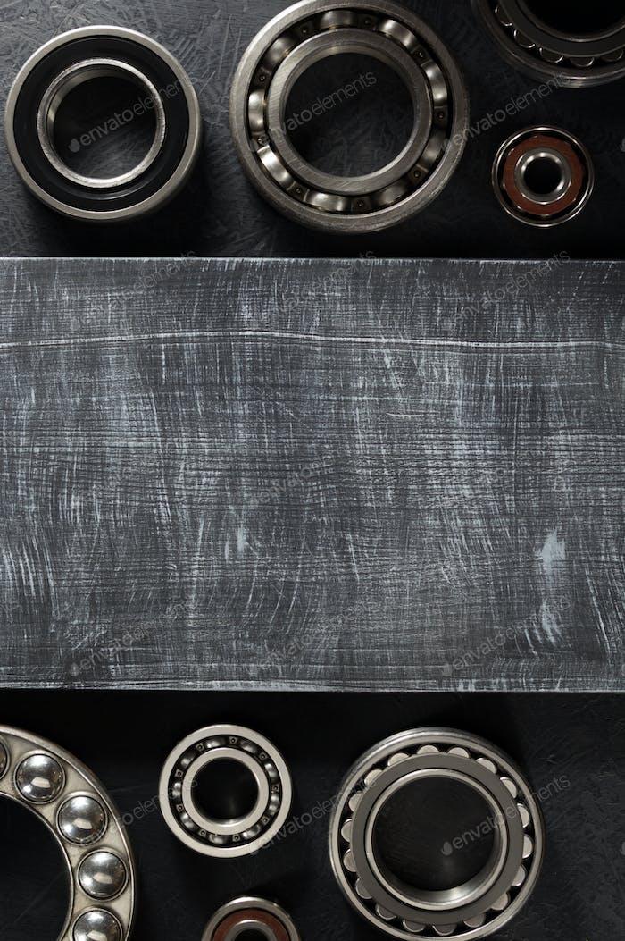 bearing tool on black background