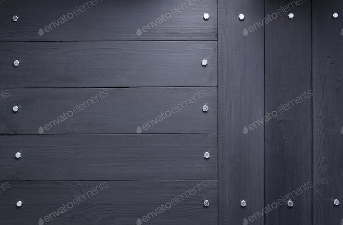 black wooden plank board background