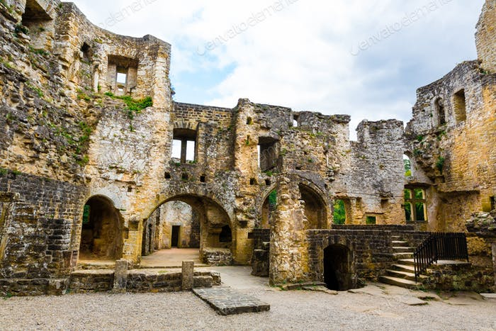 Old castle ruins, european architecture