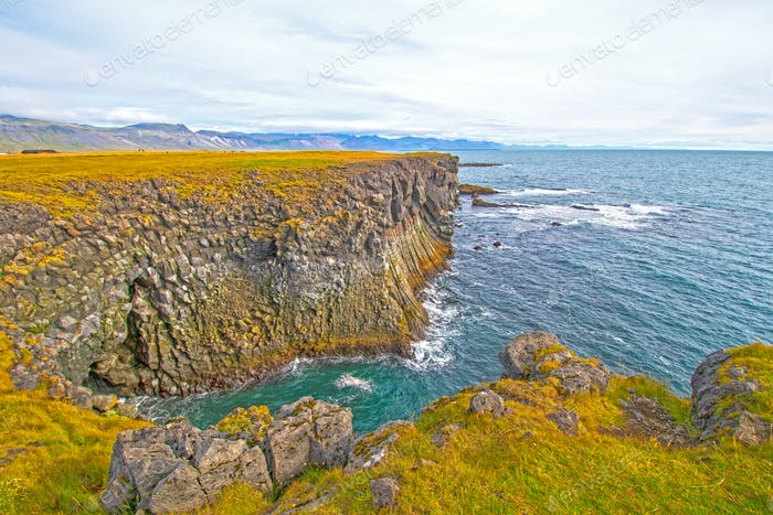 Colorful Coastline in Volcanic Country