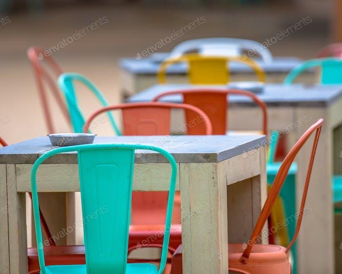 Modern outdoor Restaurant terrace