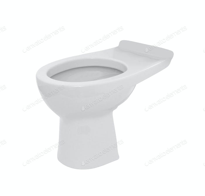 toilet bowl isolated on white background