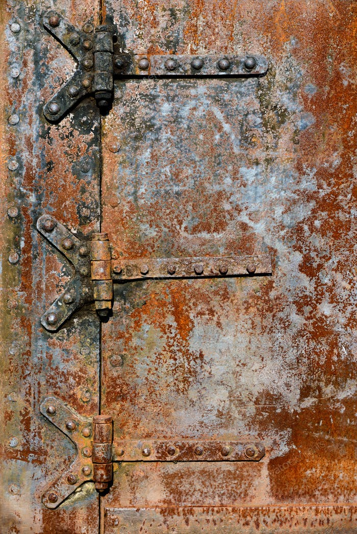 Rusty metal door details