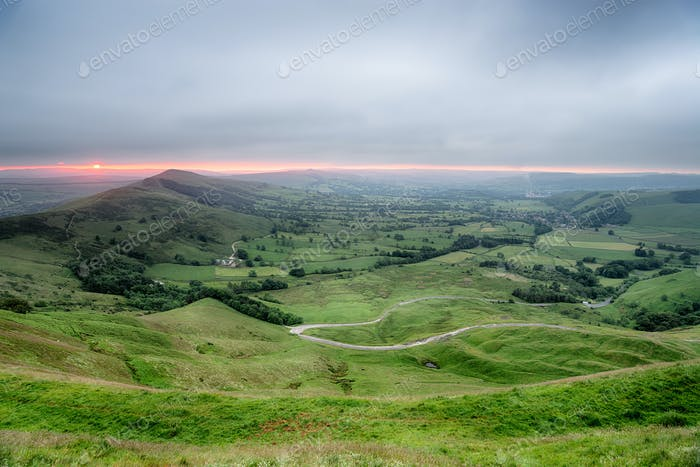 Stormy sunrise from Mam Tor