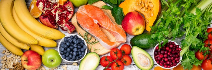 Background of healthy food for health heart