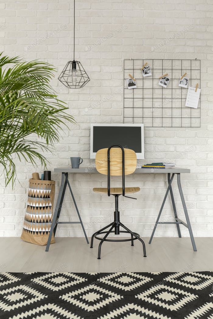 Home office in industrial style