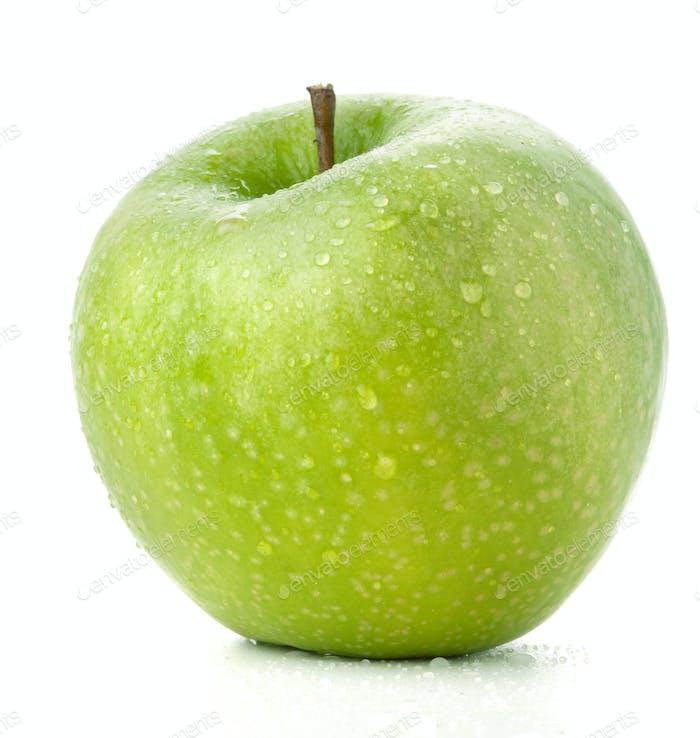 Ein reifer grüner Apfel