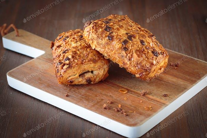 Chocolate bread croissant