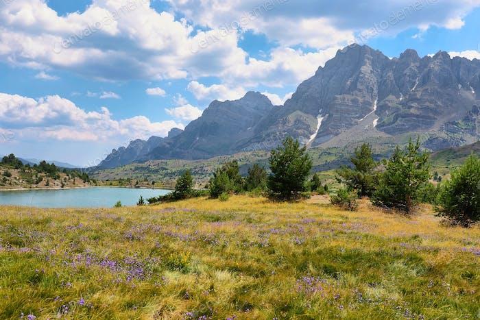 Tramascastilla lake in Valley of Tena in Pyrenees, Spain.