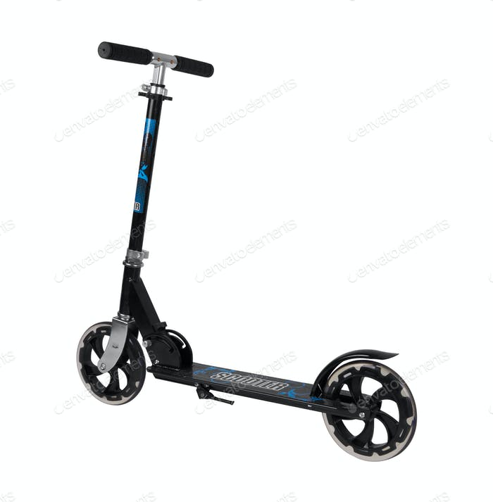 Black metal scooter