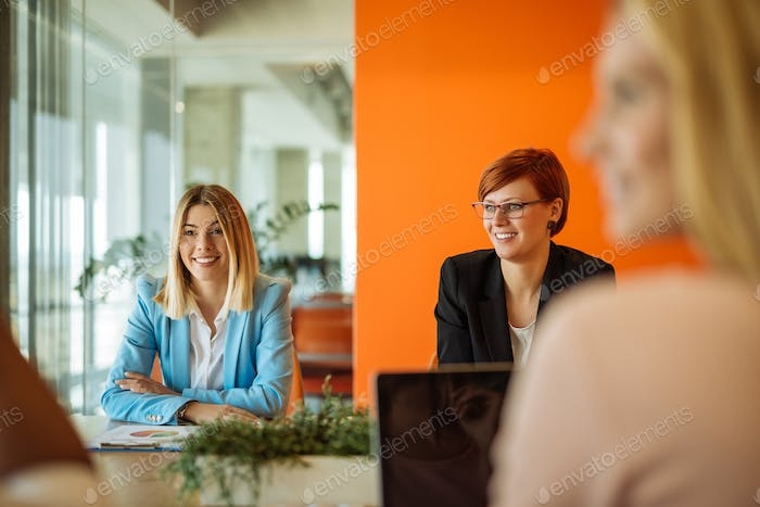 Meeting with colleagues