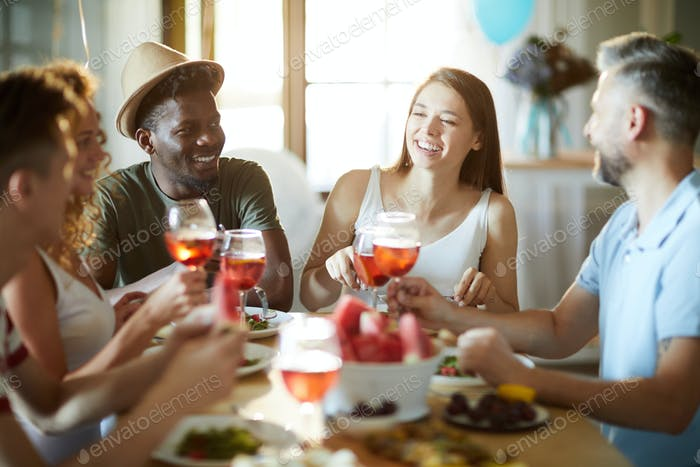 Enjoying party