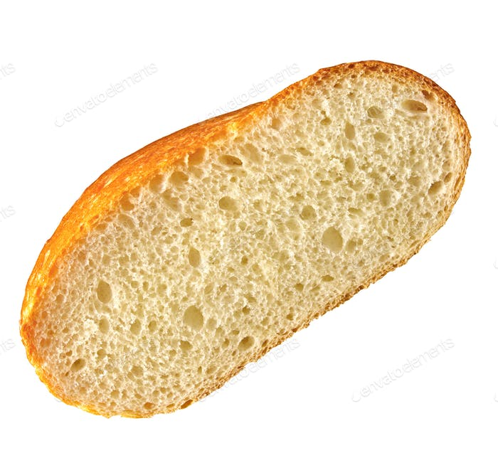 Fresh bread slice isolated