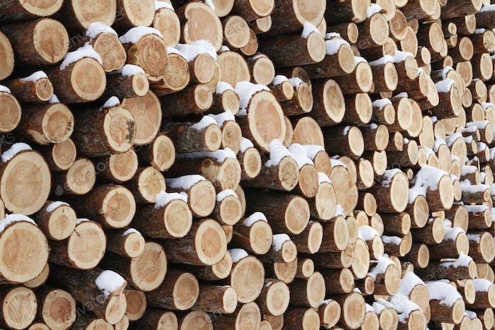 Stapel Holz