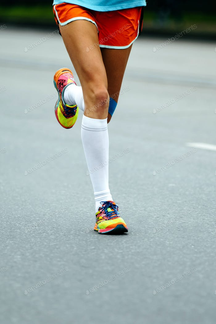Legs Woman Runner Athlete