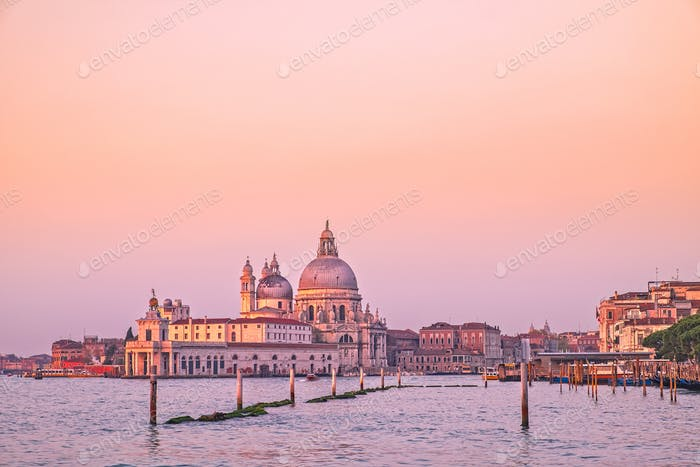 Scenic view of Santa Maria Della Salute cathedral in Venice